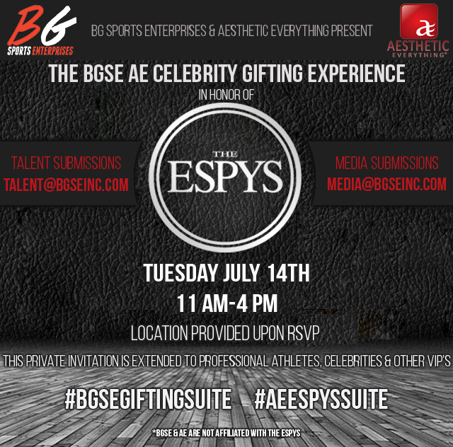 Aesthetic Everything, BGSE, Neograft Gifting Suite to Celebrate the ESPYS 2015