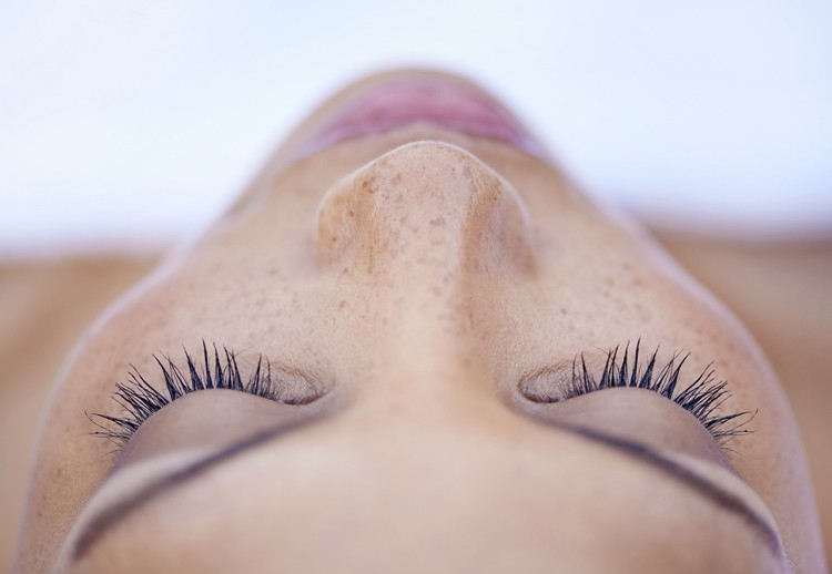 Image of a woman's face for rhinoplasty