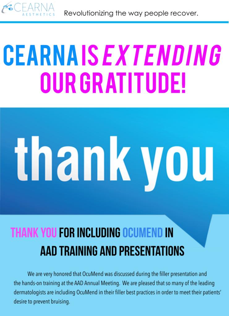 Cearna Aesthetics: Extending Our Gratitude