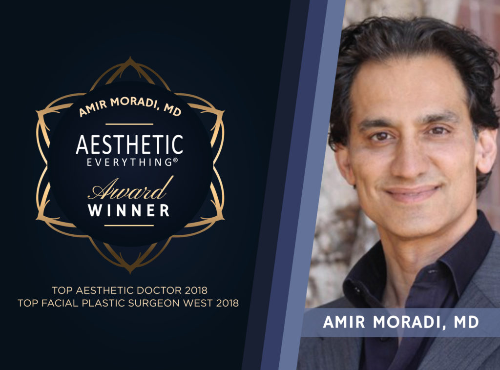 "PRESS RELEASE: Dr. Amir Moradi Receives Double Wins in Aesthetic Everything® 2018 Awards, Nabs ""Top Aesthetic Doctor"" and ""Top Facial Plastic Surgeon West"""