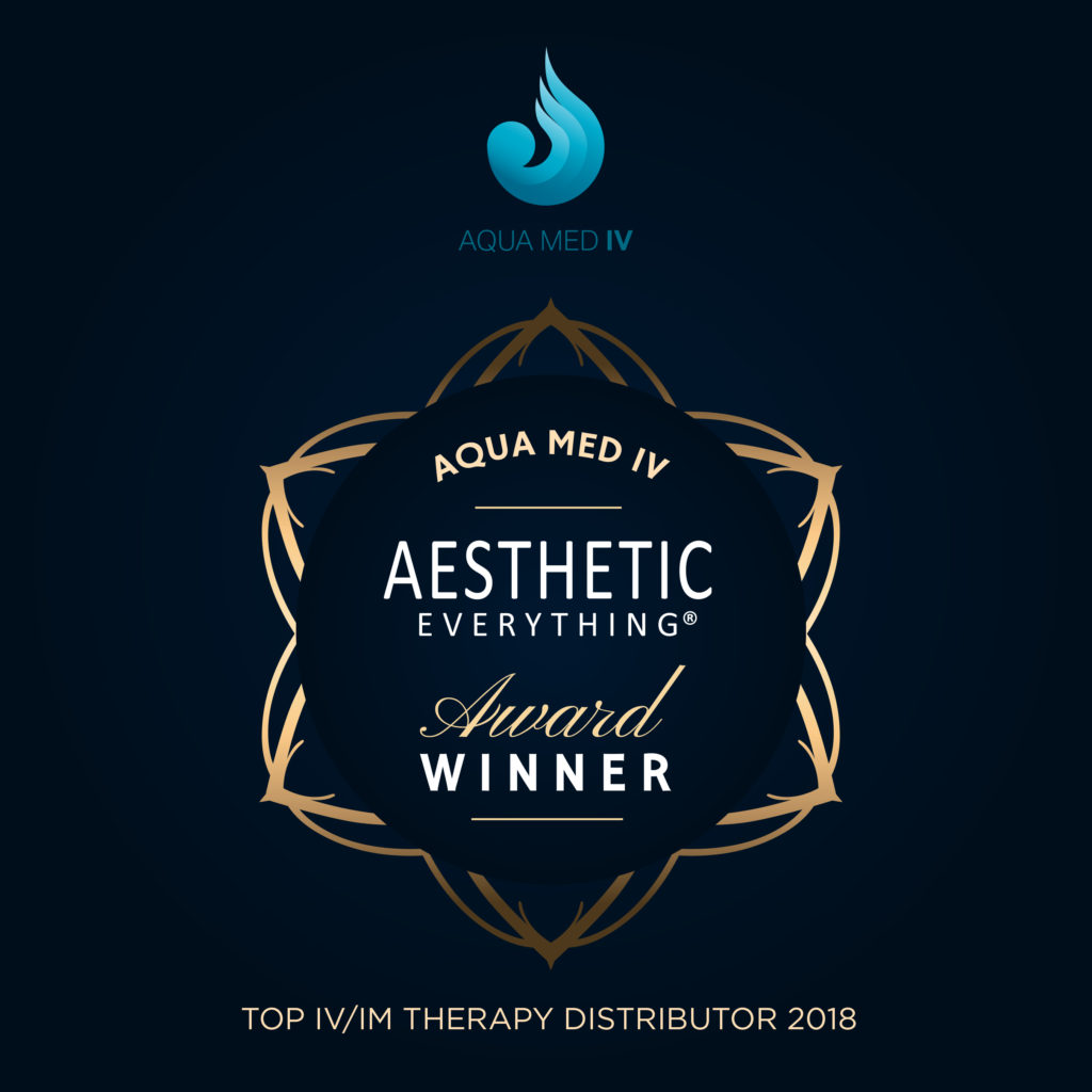 PRESS RELEASE: Aqua Med IV Receives Top IV And IM Distributor Award In The Prestigious 2018 Aesthetic Everything® Awards