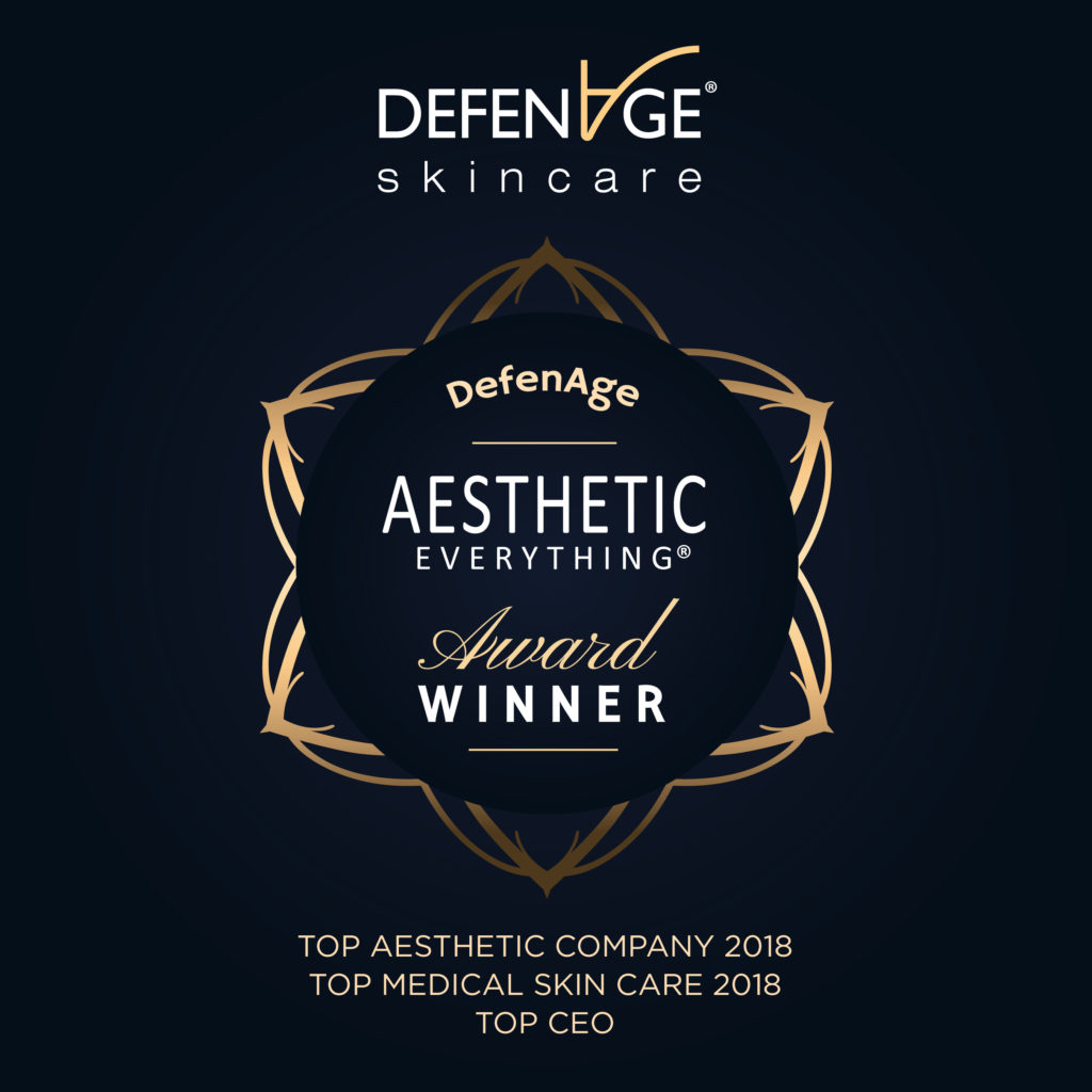PRESS RELEASE: DefenAge® Skincare Sweeps 2018 Aesthetic Everything® Awards with Seven Category Wins!