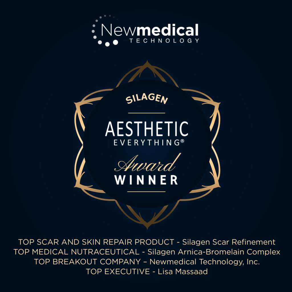 PRESS RELEASE: Newmedical Technology, Inc. and its Silagen® brand win four prestigious Aesthetic Everything® Aesthetic and Cosmetic Medicine Awards