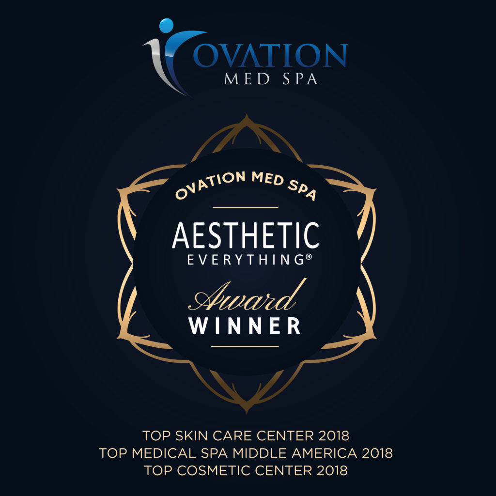 "PRESS RELEASE: Ovation Med Spa® Voted ""Top Medical Spa Middle America"" for Second Year in a Row in Aesthetic Everything® Awards"