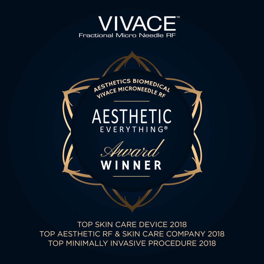 PRESS RELEASE: Aesthetics Biomedical – Vivace Microneedle RF Wins Ten 2018 Aesthetic Everything® Awards