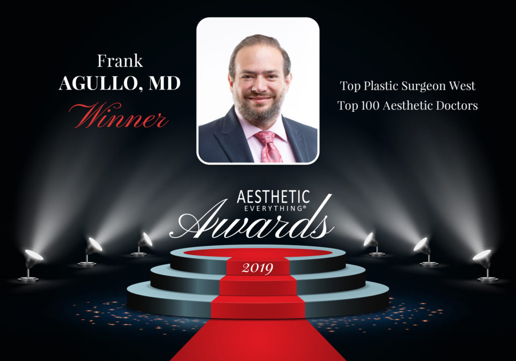 Frank Agullo, MD AKA Dr. WorldWide of Southwest Plastic Surgery, Receives Top Honors in 2019 Aesthetic Everything® Awards