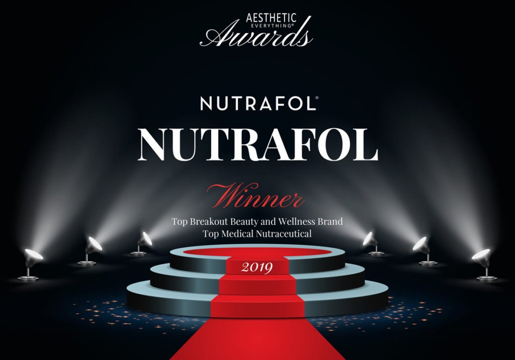 "Nutrafol® Receives ""Top Breakout Beauty and Wellness Brand"" and ""Top Nutraceutical"" in the Aesthetic Everything® 2019 Aesthetic and Cosmetic Medicine Awards"