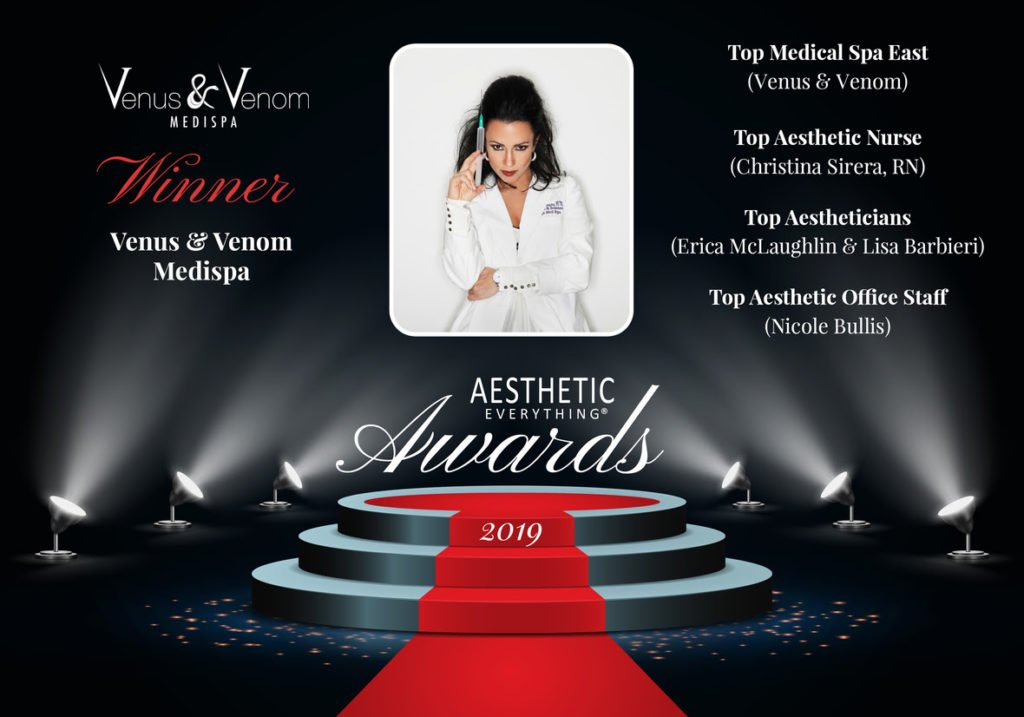 "Venus and Venom Medispa Receives ""Top Medical Spa East"" and Four Other Awards in the Aesthetic Everything® 2019 Aesthetic Awards"