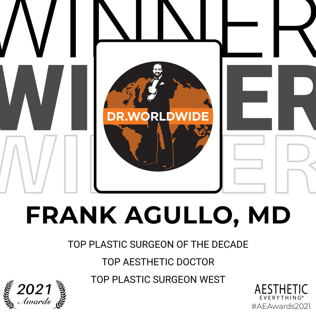 "Frank Agullo, MD Receives ""Top Plastic Surgeon of the Decade"" and more in the Aesthetic Everything® Aesthetic and Cosmetic Medicine Awards 2021"